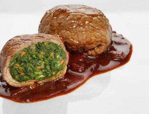 Backstage-Tutorial fotografia di food: fagottino di carne ripieno di verdura